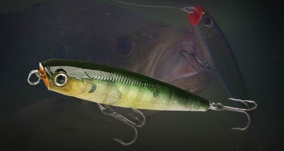 Lucky craft japan item list gunfish 75 for Top water bass fishing